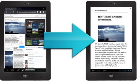 Ad-free web reading