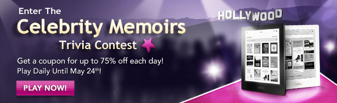 Enter the celebrity memoirs trivia contest.